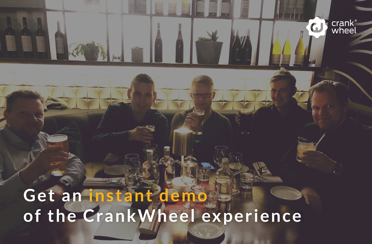 CrankWheel team having fun